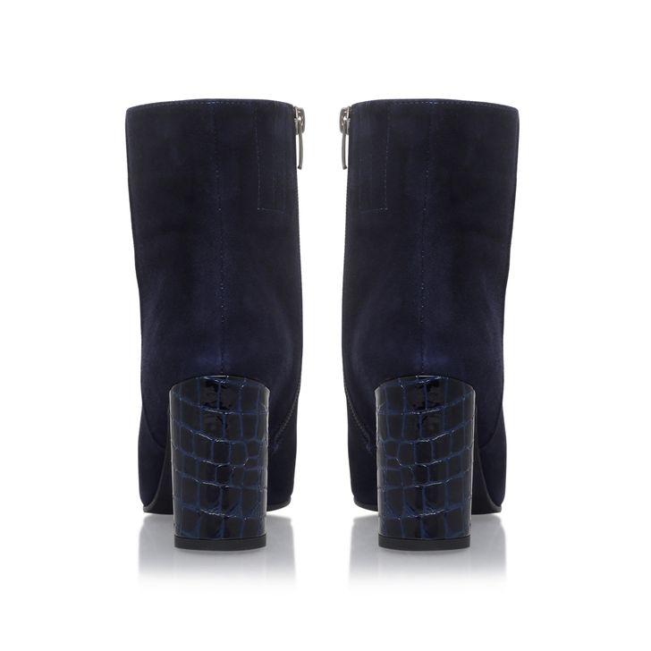Smile Navy Mid Heel Calf Boots By Carvela Kurt Geiger | Kurt Geiger