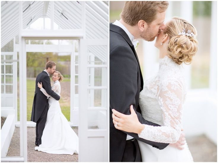 Bröllop Rosendals trädgårdar Bröllopsporträtt wedding Stockholm wedding portrait bride