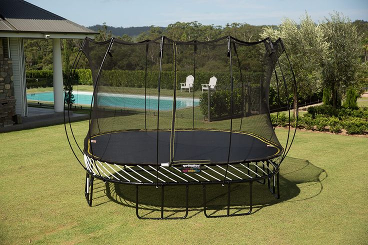 Square trampolines are available in two sizes: 11 ft large square trampoline & 13 ft jumbo square trampoline. Springfree Trampoline, the World's Safest Trampoline, provides the safest backyard trampolines online or through select dealers across the USA.