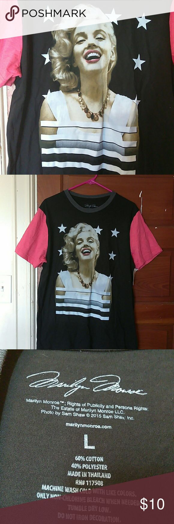 Marilyn Monroe T Shirt Mens New Large New shirt men's large. I brought it for myself (a woman for 4th of July but never worn it) Marilyn Monroe Shirts Tees - Short Sleeve
