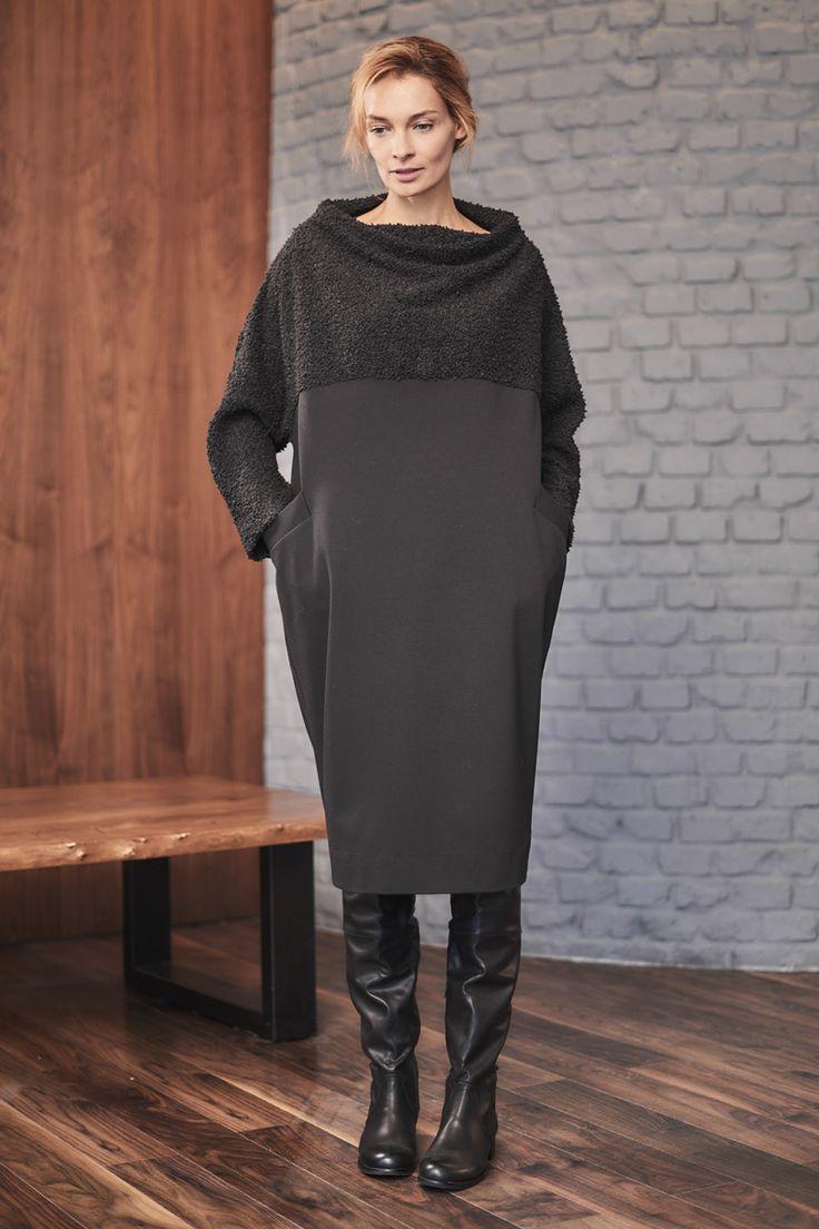 Купить Платье Кимоно, Каракульча от Lesel (Лесель) российский дизайнер одежды