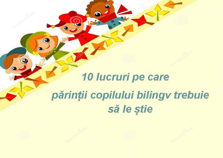 1) Copiii nu devin bilingvi prin magie. 2) Aveți nevoie de un plan: înainte de a începe învățarea unei limbi străine stabiliți-vă obiectivele.  3) Consecvența este crucială.  4) Fiți atenți la timpul de expunere la acea limbă străină.  5) Trebuie să investiți timp și bani. 6) Vor exista și dubii. 7) Nu ascultați părerile negative, acestea au rolul de a vă descuraja. 8) Vor exista și momente grele.  9) Nu veți regreta niciodată. 10) Veți fi mândru de succesul copilului dumneavoastră.