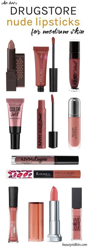 Looking for the best drugstore nude lipstick for your fair-medium olive skin tone? Check out this handy guide to find your perfect neutral lip colors, all under $10!