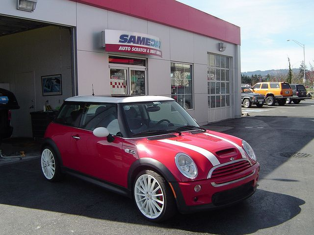 Mini Cooper | Mini Cooper Repairs | Mini Cooper Auto Scratch and Dent Repair | Mini Cooper Repairs in Olympia, Washington by Sameday Premium Services, Olympia auto body, Olympia car repair, dent repair Olympia, car scratch repair Olympia, bumper repair in Lacey, paint scratch removal