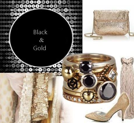 Dé gouden combinatie met zwart is toch wel..... goud. Goudkleur geeft een elegante, luxe en feestelijke uitstraling. Maar ook voor een alledaagse look kan je goud met zwart combineren. De golden look ringen van Charmins sluiten hier perfect bij aan!