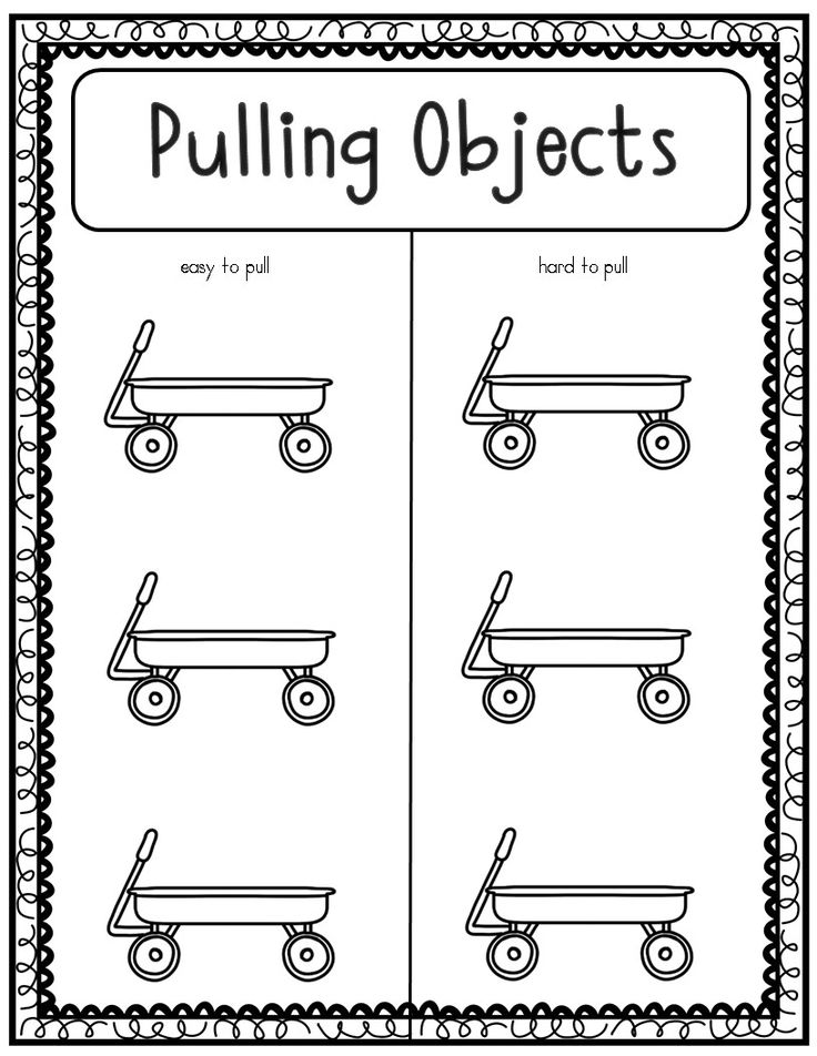 Kindergarten Science Push And Pull Worksheets