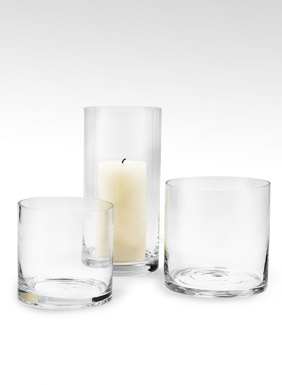 5x5 6x6 And 5x10in Glass Cylinder Vases Cagv Lunch Pinterest