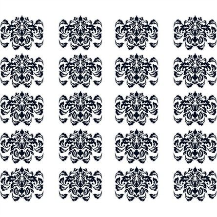 @rosenberryrooms is offering $20 OFF your purchase! Share the news and save! (*Minimum purchase required.) Damask Pattern in Black Wall Sticker #rosenberryrooms