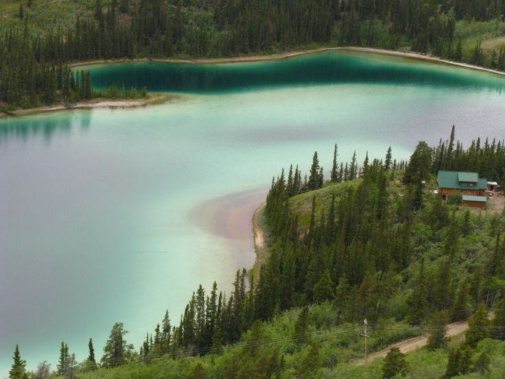 Emerald Lake, near Whitehorse, Yukon
