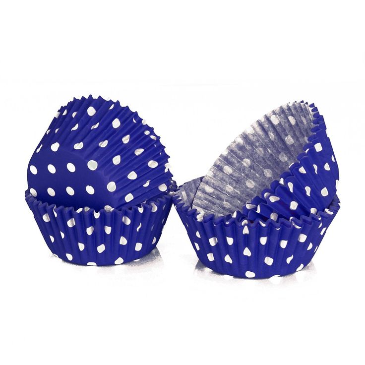 PME Blue Polka Dot Baking Cases