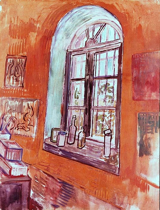 Vincent van Gogh. Window of Vincent's Studio at the Asylum