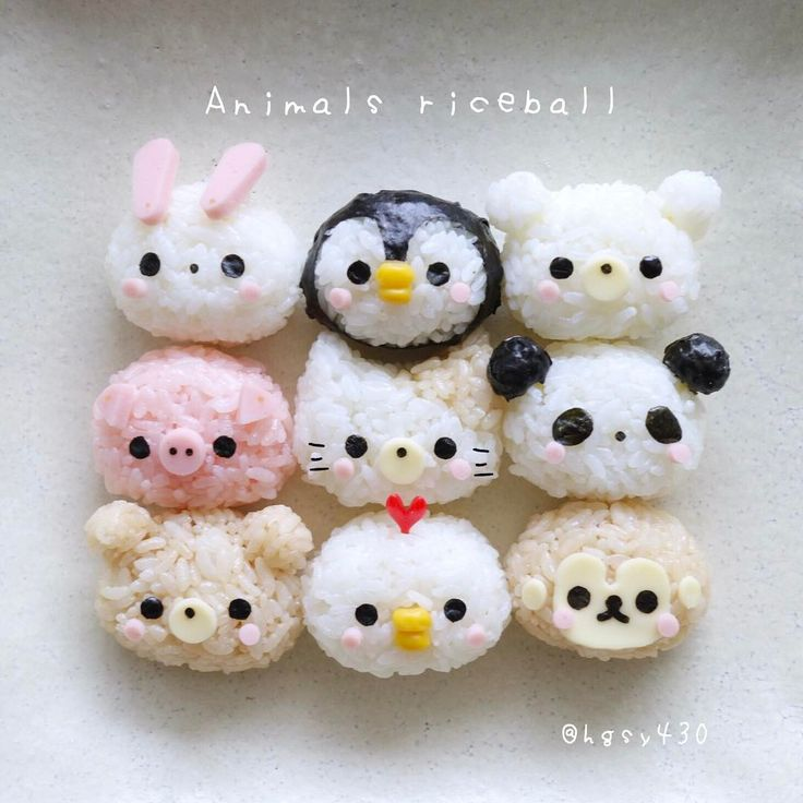 Animal rice balls by yuka (@hgsy430)