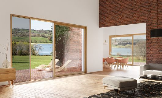 Centor Integrated Doors challenge the conventions on what is known as a 'door' today. It's a patio door with a built-in vanishing screen and shade that completely disappear into the doorframe when not needed. Gives full control of sunlight, privacy, insects and airflow.