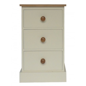 Portchester Pine Painted with Oak Tops 3 Drawer Wellington Chest www.easyfurn.co.uk