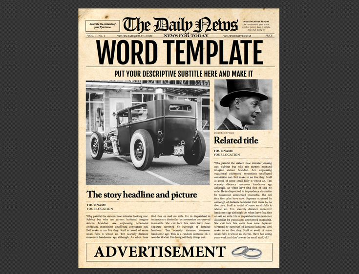 Best 39 Newspaper Templates Images On Pinterest Role Models