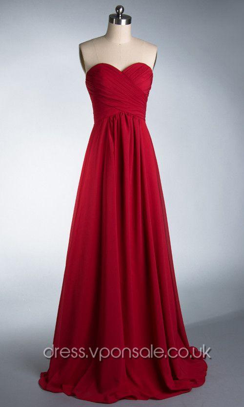 Long Bridesmaid Dresses Sweetheart Neck Long Plicated Bridesmaid Dress VPBN891 [VPBN891]