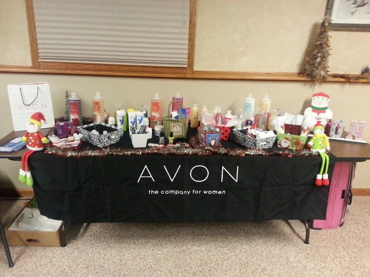 My Avon Booth At The Holiday Open House In Hesston Ks
