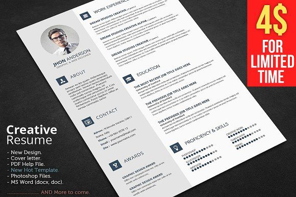 Resume by GraphicsToll on @creativemarket