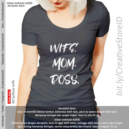 Wife Mom Boss - Tees Indonesia