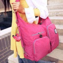 women messenger bag vintage travel fashion bolsas femininas ladies light waterproof solid nylon monkey bags(China (Mainland))