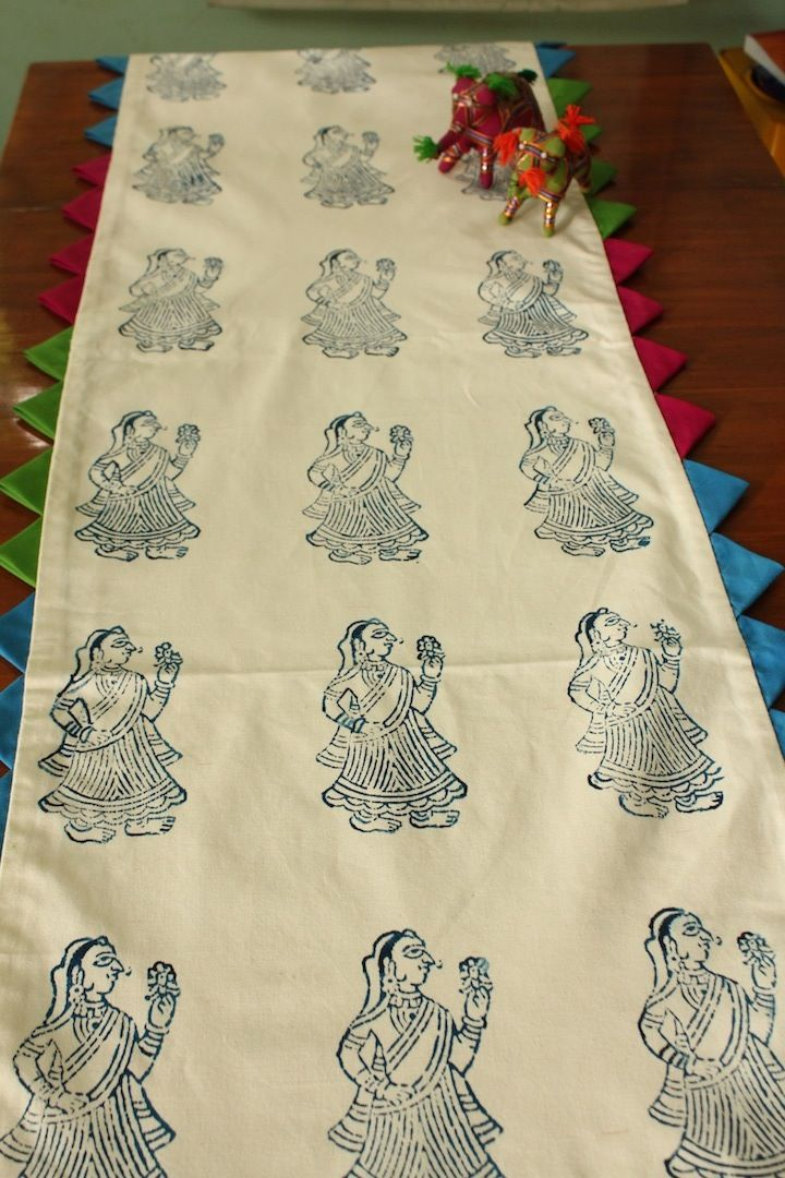 Blue Lady Table Runner