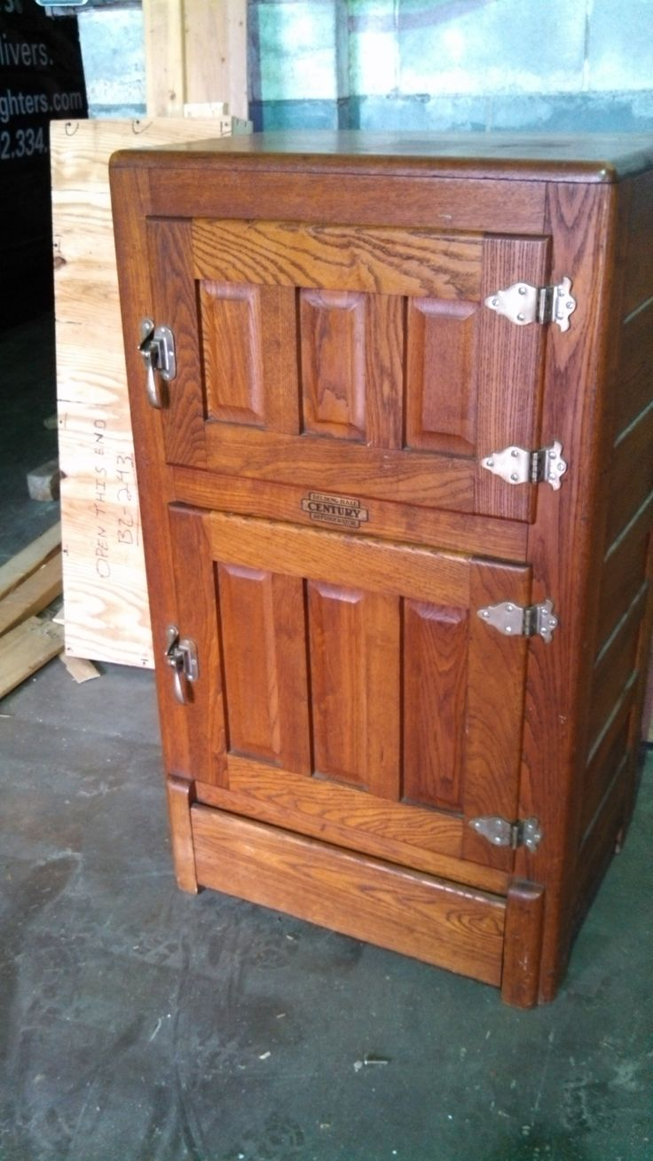 Antique vintage unfinished refrigerators - Antique Refrigerator