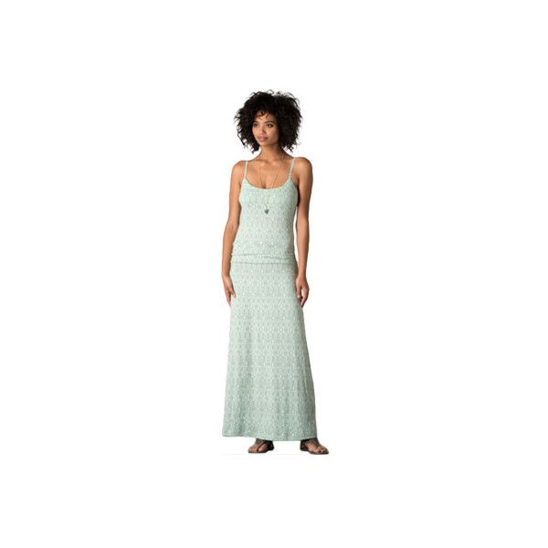 Women's Toad&Co Long Island Dress ($56) ❤ liked on Polyvore featuring dresses, shelf bra, green maxi dress, summer beach dresses, long maxi dresses and beach formal dresses