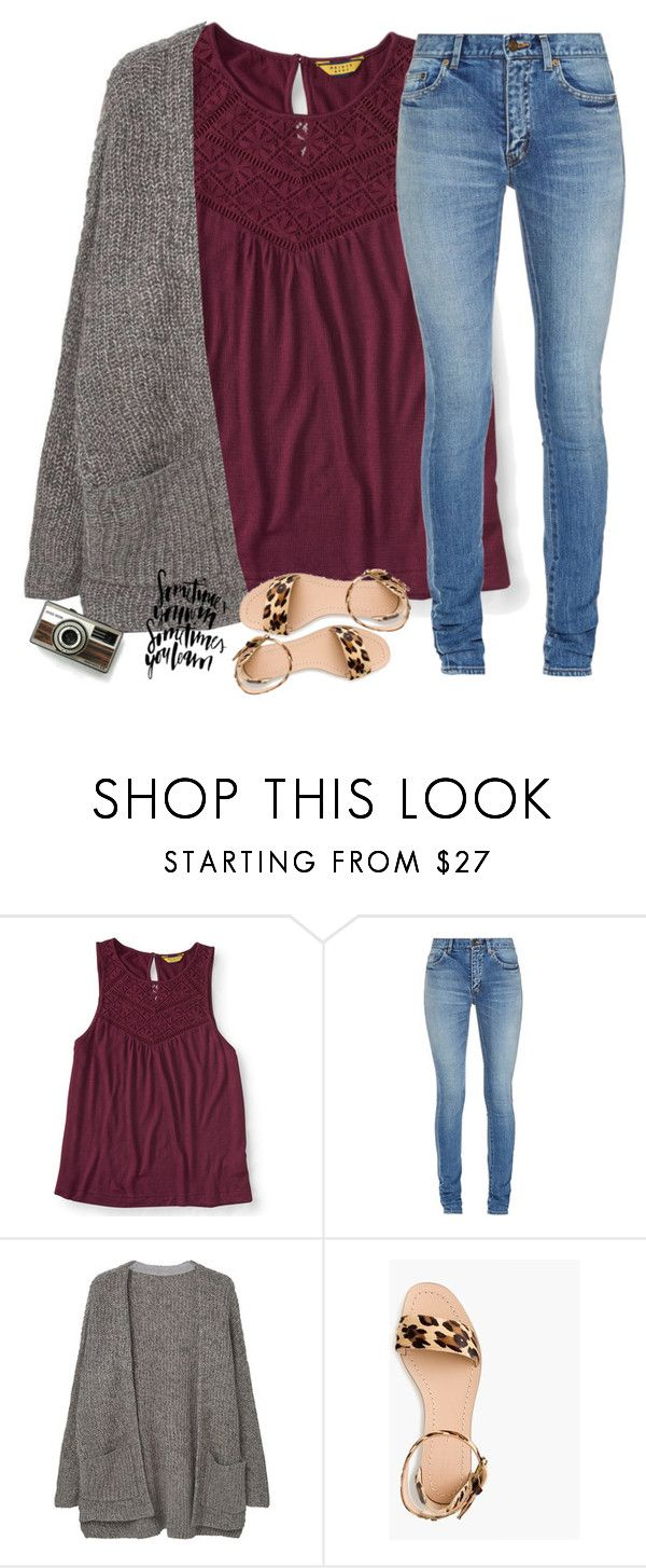 """""""Real eyes realize real lies"""" by southernstruttin ❤ liked on Polyvore featuring Aéropostale, Yves Saint Laurent, MANGO and J.Crew"""