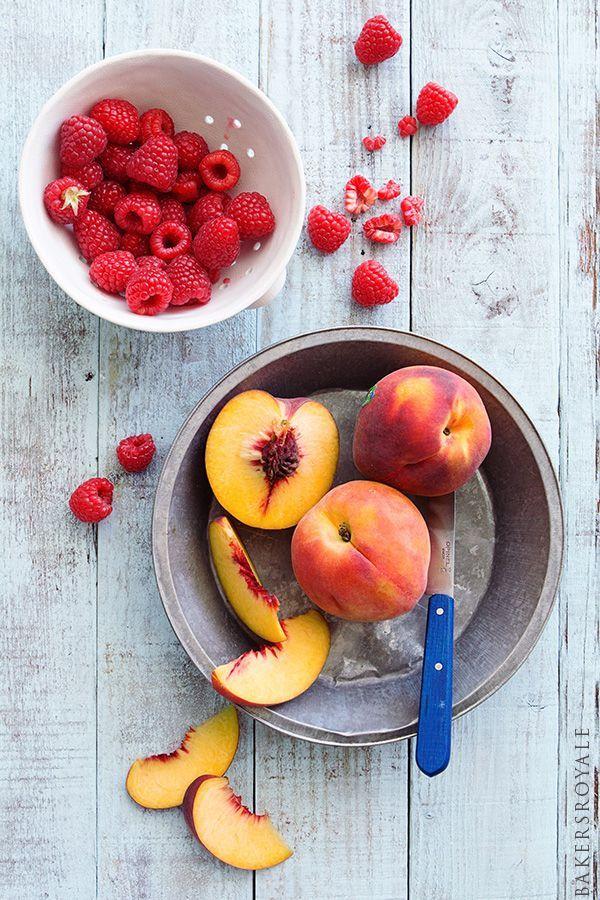 Raspberry and Peach Sorbet