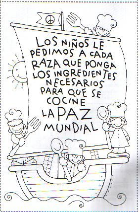"Esta vela dice ""children will ask each race to put the necessary ingredients to cook world peace""."
