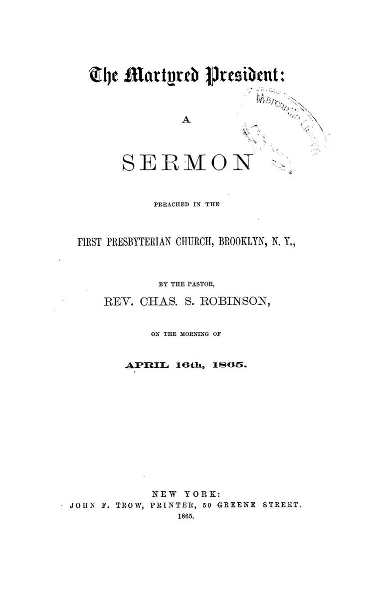 66 best Church Sermons on Lincoln's Assasination images on ...