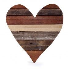 Houten hart via Wereldwinkel