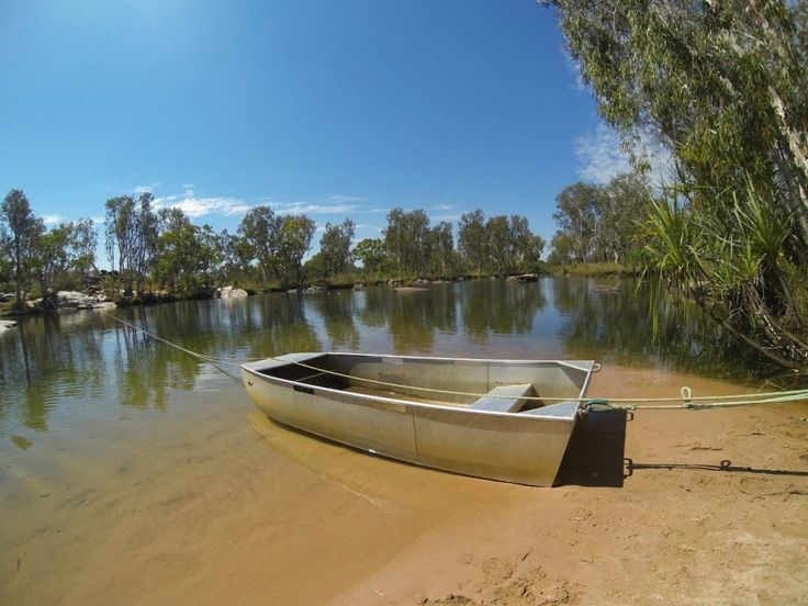 The boat to Manning Gorge