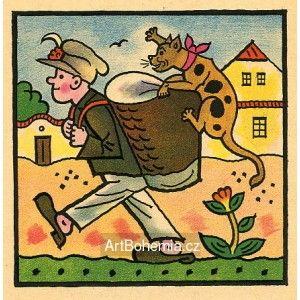 Bartoš. Bartoši, Bartoši! Máš kocoura na koši!..., 1928 | 15×15 cm