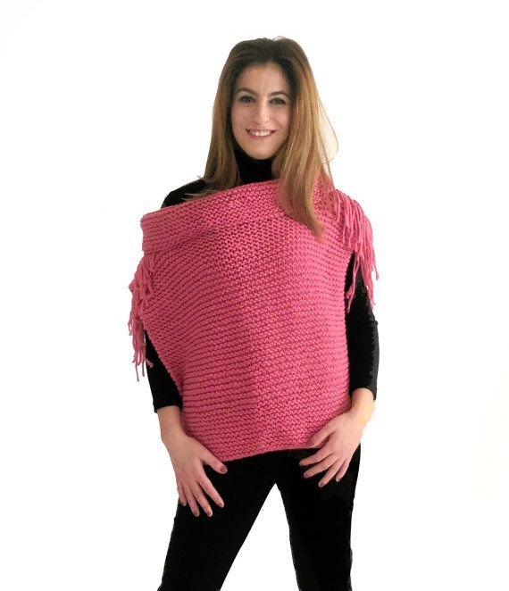 Hey, I found this really awesome Etsy listing at https://www.etsy.com/listing/495284795/pink-sleeveless-wool-sweater-hand