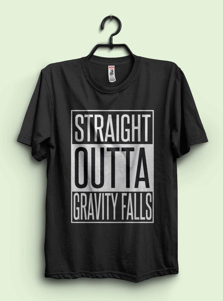 Gravity Falls Inspired T shirt 'Straight Outta Gravity Falls' Unisex T-shirt by teerocket on Etsy https://www.etsy.com/listing/289055591/gravity-falls-inspired-t-shirt-straight