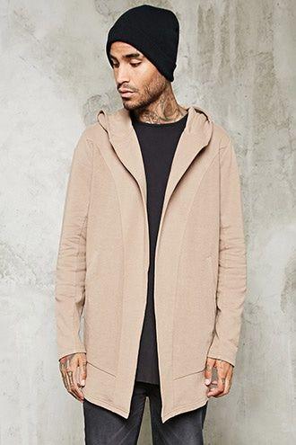 Open-Front Hooded Cardigan | 21 MEN - 2000234893