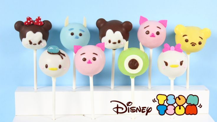 Disney Tsum Tsum cake pops that are almost too cute to eat! Enjoy, and make sure to share pictures of your treats on Facebook and Instagram with the hashtag #kawaiisweetworld!Cake Pop Recipe      M...