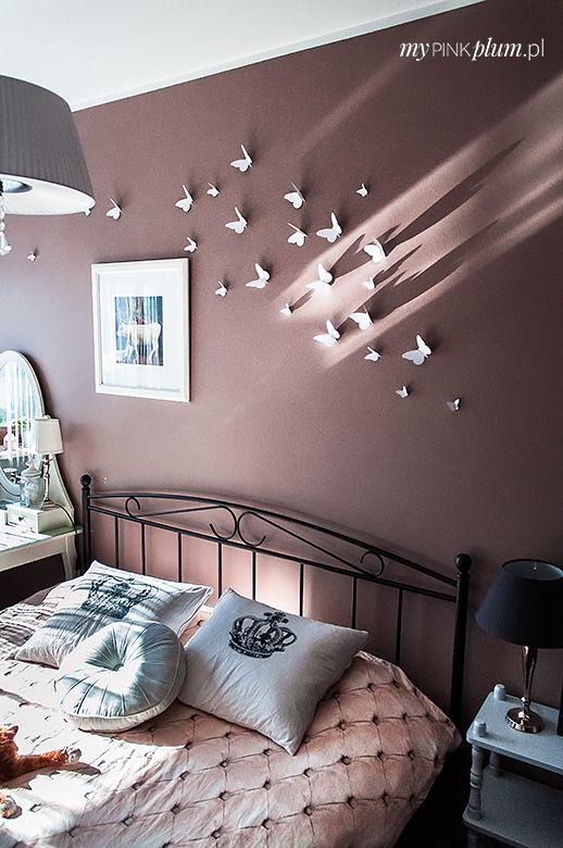 My Pink Plum!: [DIY] Dekoracja ściany w 3D - sypialnia w stylu Gossip Girl!