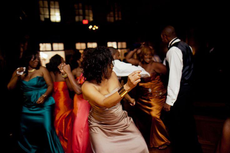 Black couple wedding reception