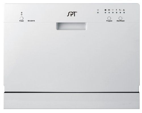 SPT Countertop Dishwasher, Silver - http://bestdishwashershop.net/spt-countertop-dishwasher-silver