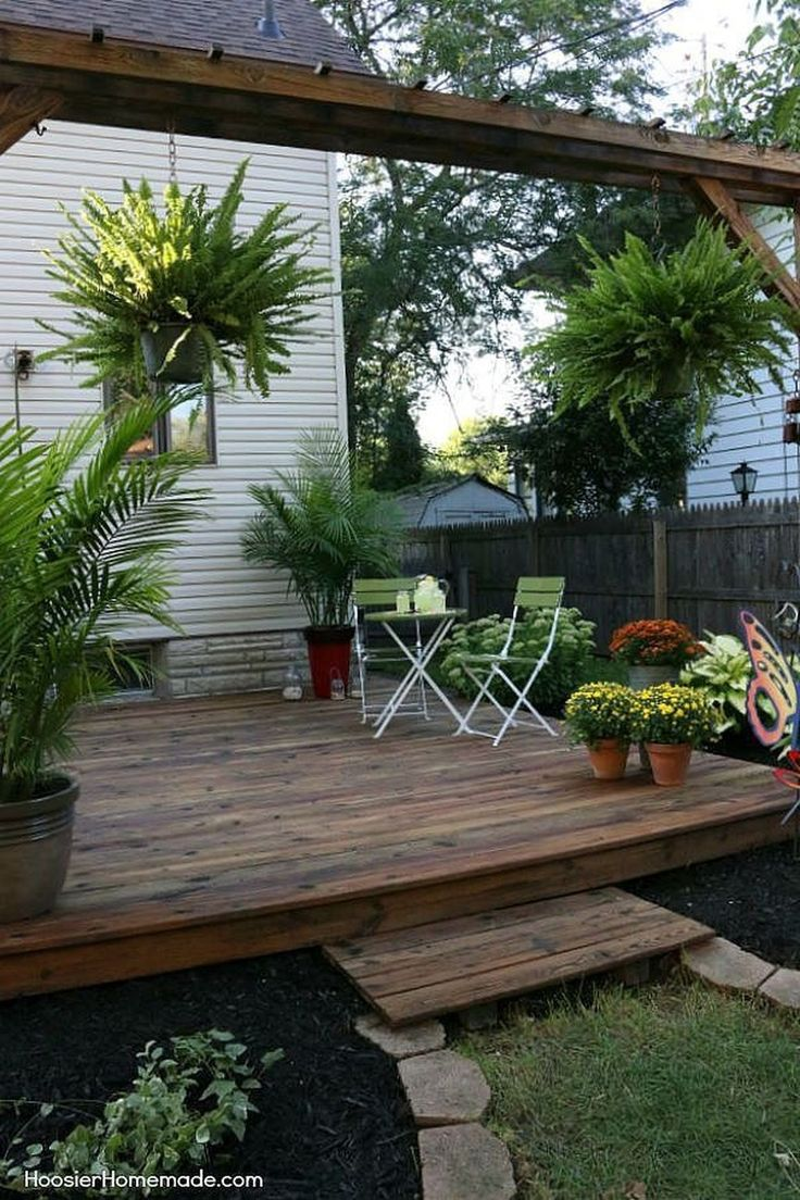 Cozy Backyard Patio Deck Design Decoration Ideas 02 – Dinah Beyer