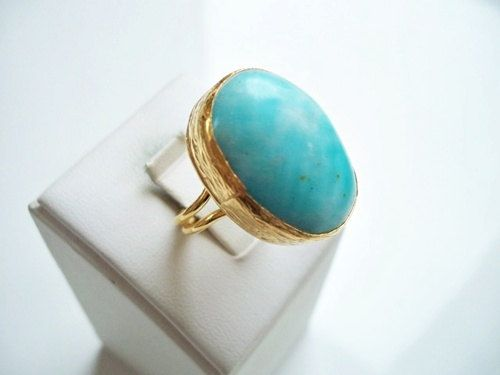 Special LARIMAR ring by beadycats on Etsy