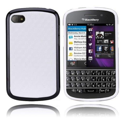 EdgeWhite (Musta) BlackBerry Q10 Suojakuori