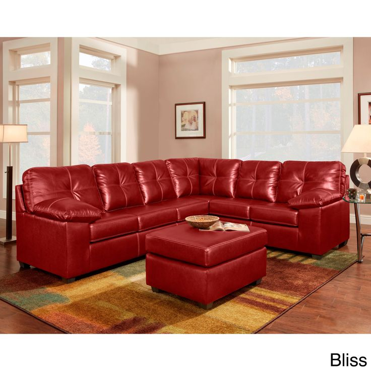 Sofa Trendz Red/Brown Bonded Leather Sectional (Chocolate) Part 73