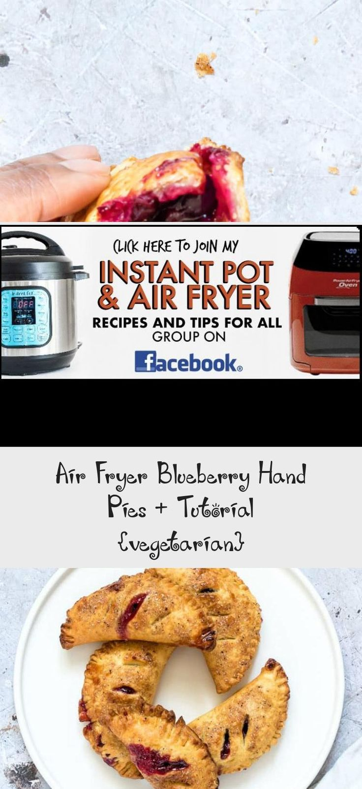 Air fryer blueberry hand pies are delectable adorable and