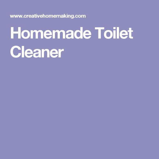 Homemade Toilet Cleaner