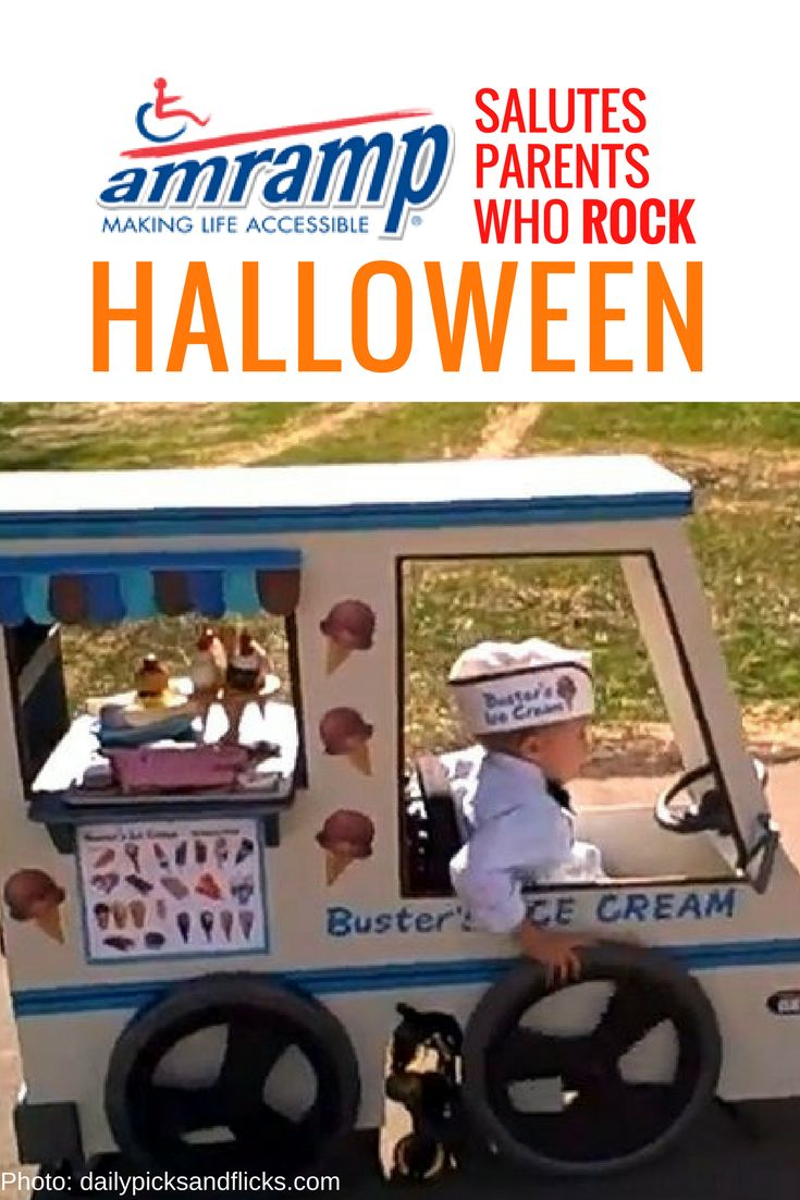 Amramp Wheelchair Costume - Ice Cream Truck man is ready to roll!