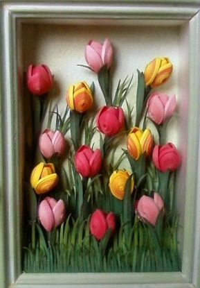 tutorial.....Master klasspo tulips in quilling technique. Comments: LiveInternet - Russian Service Online Diaries