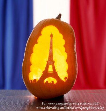 Eiffel Tower – Free Pumpkin Carving Pattern